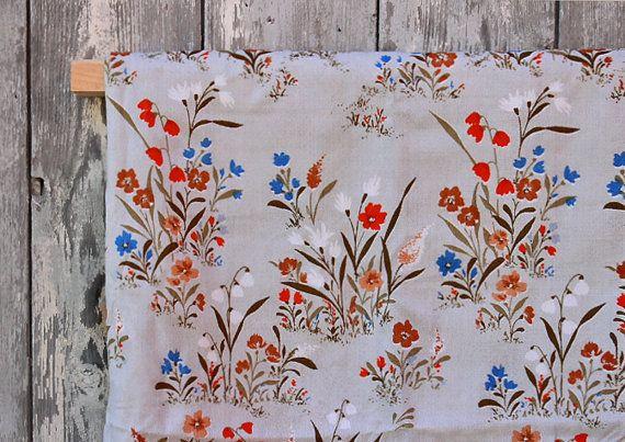 vintage fabric unused home decor 47.2'' x by WollariumsVintage