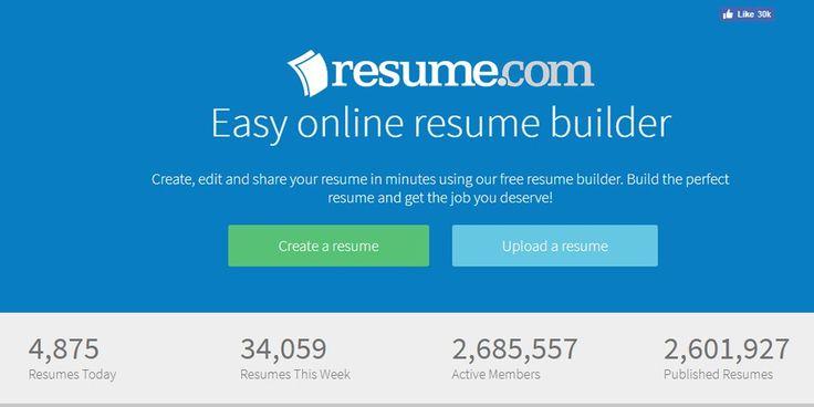 resumizer Online Resume Builders Pinterest Online resume - got resume builder