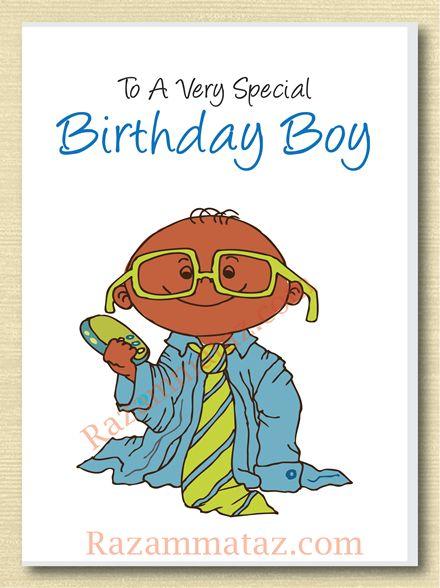 African American Boy Birthday Card A