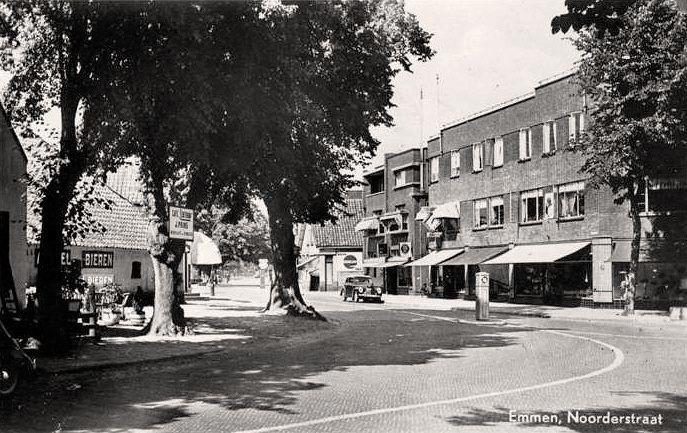 Noorderstraat Emmen (jaartal: 1950 tot 1960) - Foto's SERC