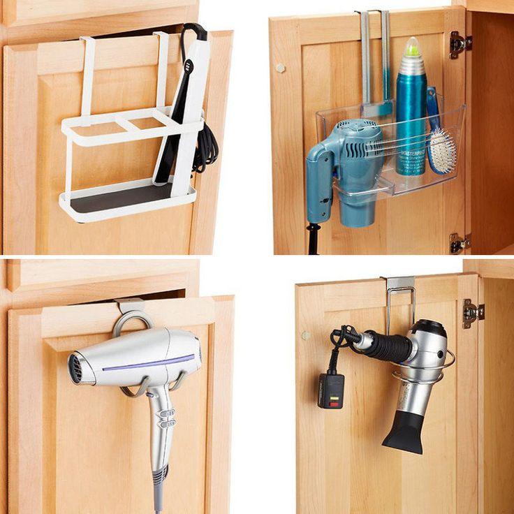 5 formas diferentes de guardar secador, escova e chapinha no banheiro   Casa                                                                                                                                                                                 Mais