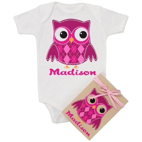20 best images about cute baby gift ideas on pinterest find this pin and more on cute baby gift ideas pink owl personalized negle Choice Image