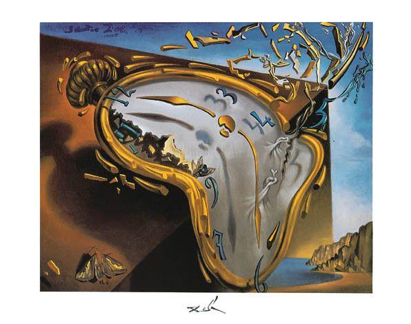 Salvador Dali explosion del reloj