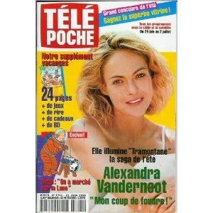 """Alexandra Vandernoot illumine """"Tramontane"""" la saga de l'été, dans Télé Poche n°1741 du 21/06/1999 [couverture et article mis en vente par Presse-Mémoire]"""