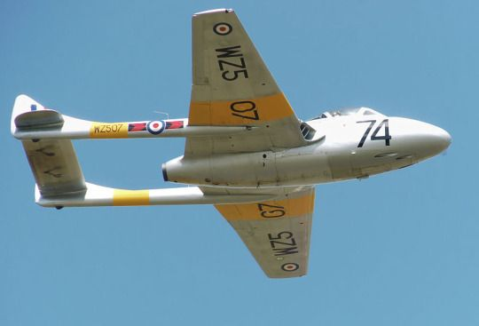 de Havilland Vampire T11 | Repinned by @keilonegordon