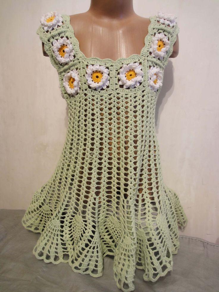 Платье туника Часть 1  Dress tunique crochet Part 1