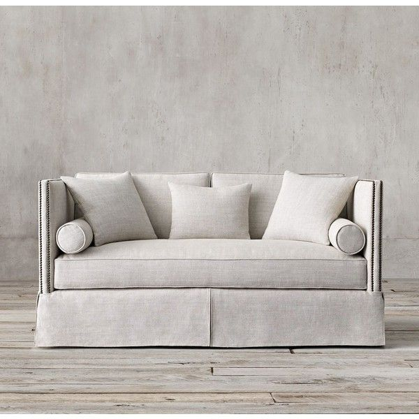 6' Morrison Sofa (€2.970) ❤ liked on Polyvore featuring home, furniture, sofas, nailhead furniture, restoration hardware sofa, highback sofa, nailhead sofa and nailhead couch
