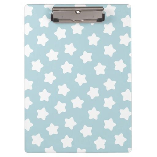 Cute Baby Blue Star Pastel -Colored Clipboard