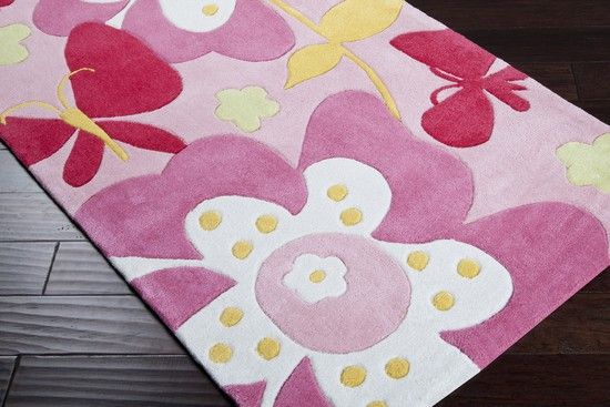 Surya CHI1007 Chic Hand Tufted Synthetic Pastel Pink