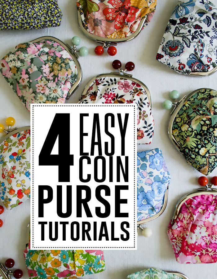 4 easy coin purse tutorials