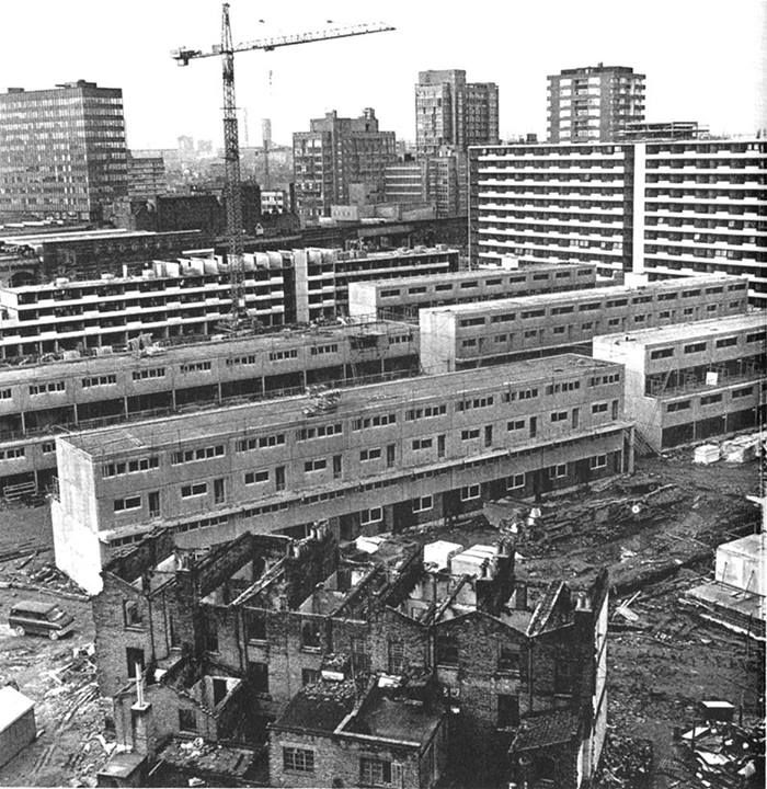 London's Heygate Estate under construction in the early 1970's