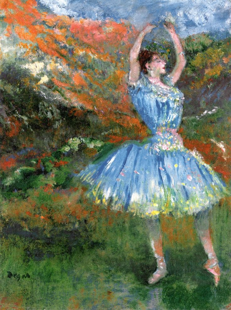 dappledwithshadow Blue Dancer, at the BalletEdgar Degas