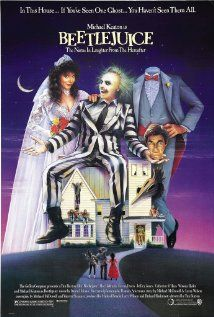 """Beetlejuice (1988)...A couple of recently deceased ghosts contract the services of a """"bio-exorcist"""" in order to remove the obnoxious new owners of their house."""