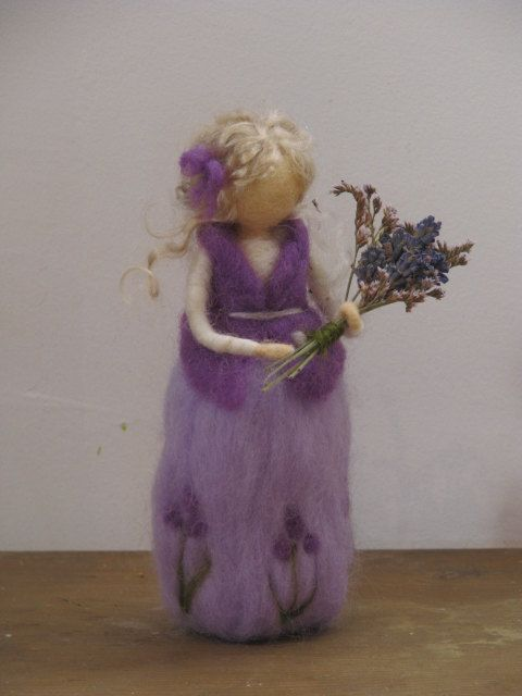 Needle felted levander girl SALE by Made4uByMagic on Etsy ♡