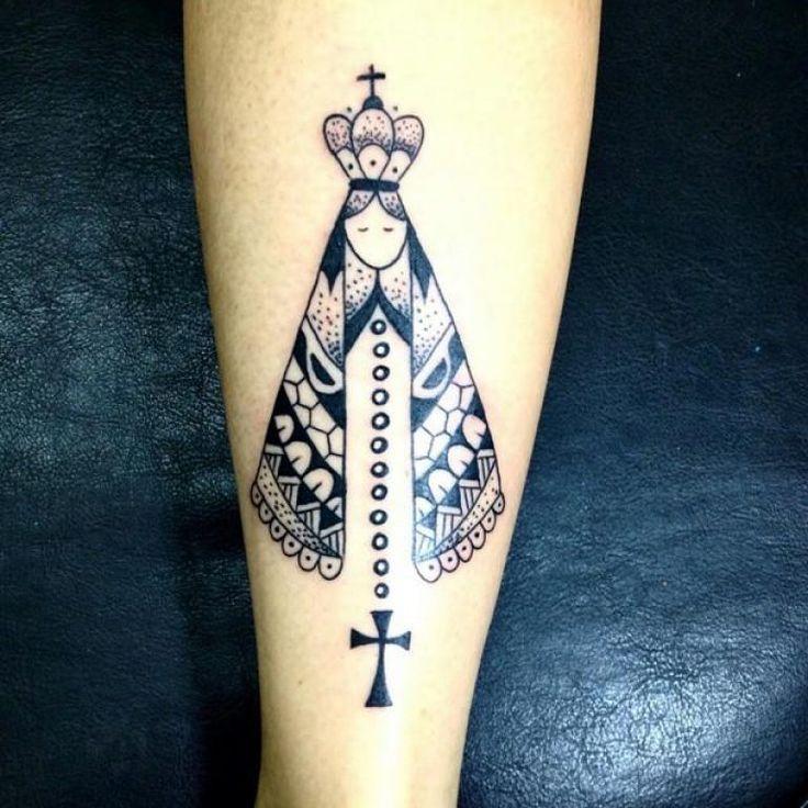 60 Tatuagens de Nossa Senhora da Aparecida (lindas!) | Tatuagem panturrilha masculina, Tatuagem, Tatuagens