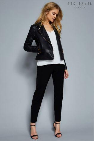 Ted Baker Caryse Black Leather Jacket