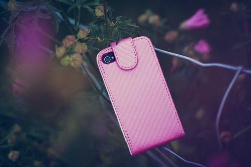 Rosa konstläder fodral iPhone 4/4s | iDiwa -    http://www.idiwa.se/rosa-konstlader-fodral-iphone-4-4s#