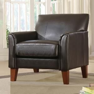 Home Creek Colin Faux-Leather Arm Chair from Brookstone.