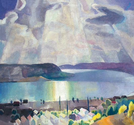 Patkó, Károly (1895-1941) - The Danube at Zebegény, 1934