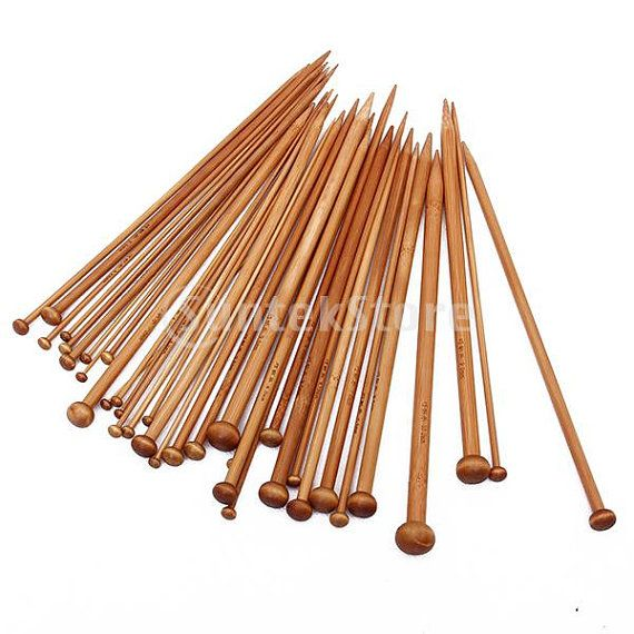 36 pieces 18 Sizes Carbonized Bamboo Knitting by SusanSupply