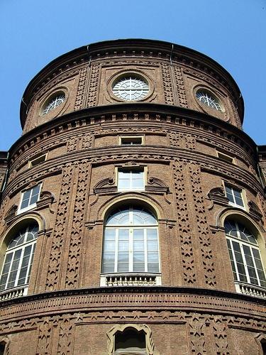 Inner façade, Palazzo Carignano, Torino - Guarino Guarini, Architect