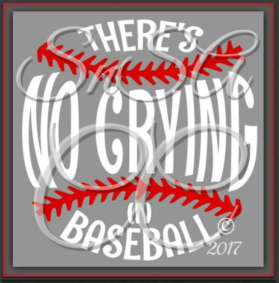 Baseball SVG Theres No Crying Ball Team DXF Love Life Mom Dad Sister Brother Coach Birthday Easter Cheer Dance Shirt Cup 2017 Sign Decal.  *PERSONAL USE ONLY*  This is an SVG. DXF is also included. This can be cut with a die such as a Cricut- with materials such as cardstock, & vinyl. Feel free to use any desired colors.  Available for instant download @ checkout. *PERSONAL USE ONLY*  Please msg me prior to purchase if you need this SVG file converted to work in a specific design program ...