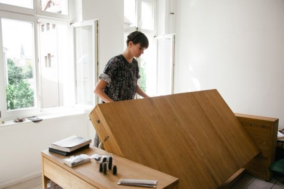 Found in Berlin, the BLESS HOME is both Mira Schröder's apartment and a live-work studio for the international design collective BLESS. The home features BLESS's designs as they are made, including the Workbed, a space-saver that is seemingly made for those artists who sleep over in their studios.