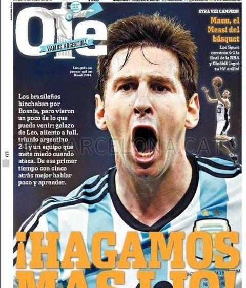 #MESSI #World Cup # 2014 - MESSI Ole publicación Argentina