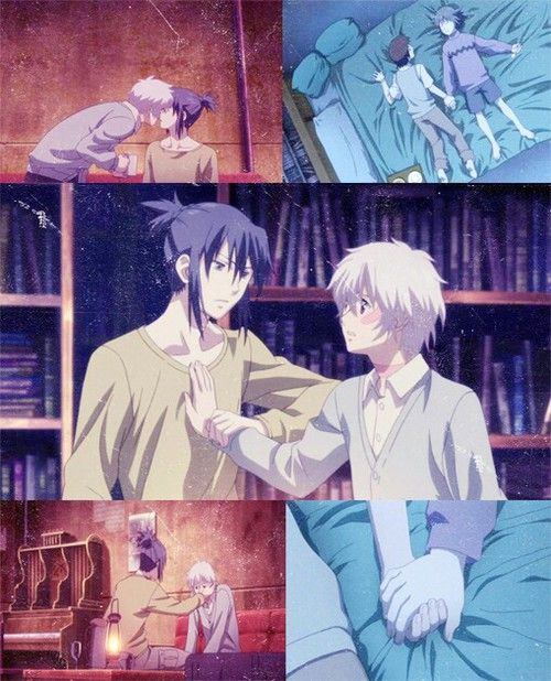 Shion x Nezumi |No.6 okay I seriously started this tonight and im already on the last episode.... I WANT MORE its not often you find something with a good plot and also a casual developing cannon gay relationship. I love how they did it just as any romance anime would.