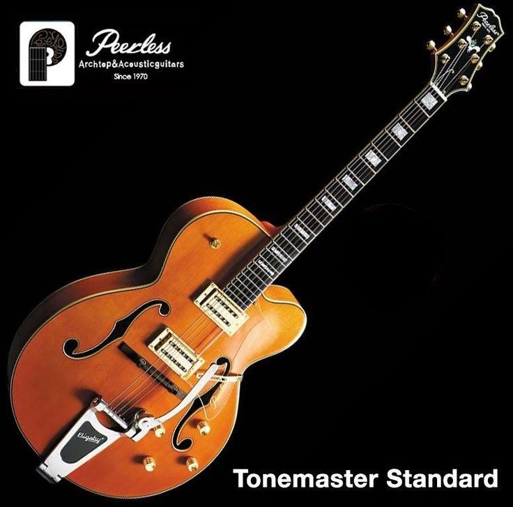 """Peerless Tonemaster Standard Hollow Body Jazz Electric Guitar 16"""" Bigsby Orange #Peerless"""