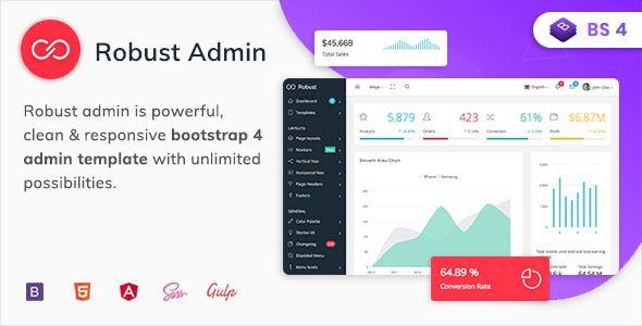 Robust - Premium Bootstrap 4 Admin, Dashboard & WebApp Kit