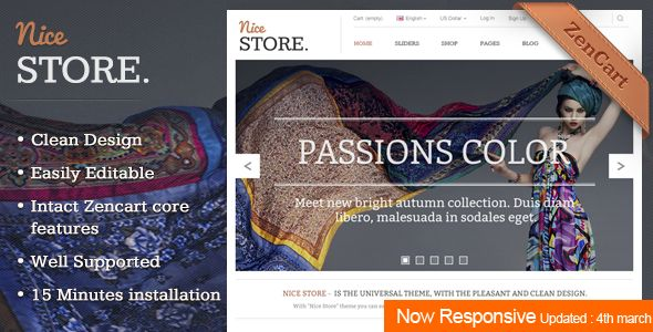 Nicestore - #Responsive #Zencart Template via @medosadvert - #php5 #html5 #css3 #boostrap
