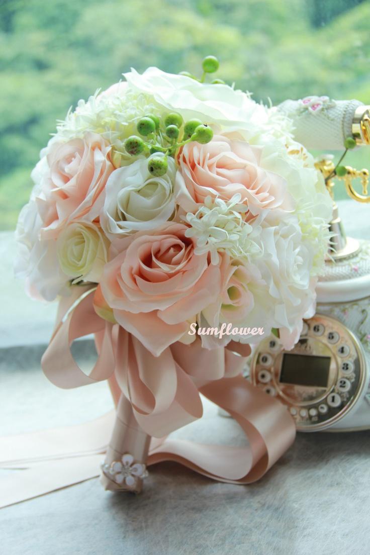 31 Best Silk Bridal Bouquet Silk Corsage Wrist Corsage Images On