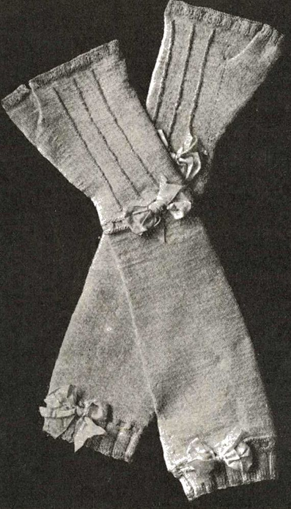 Knitting Pattern Gauntlet Gloves : 72 Best images about 1900s knitting and crochet on ...