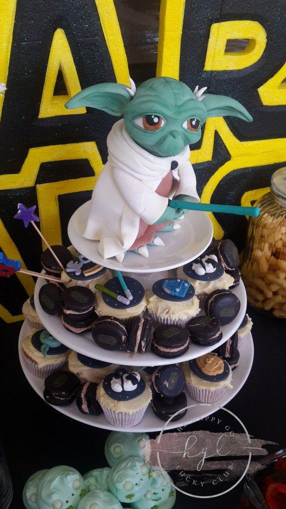 Star Wars Party Yoda Birthday Cake