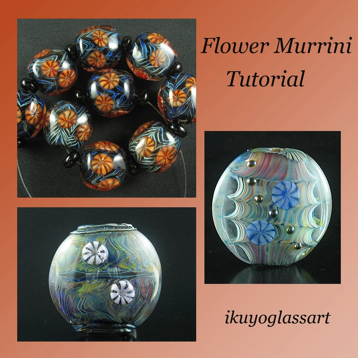 Tutorial: How to Make Japanese Style Flower Murrini and How to Apply it to Your Beads by Ikuyo. $10.00, via Etsy.Beads Double, Flower Murrini, Glasses Beads, 10 00, Lampworking Beads, Glasses Lampworking, Lampworking Tutorials, Japanese Style, Style Flower