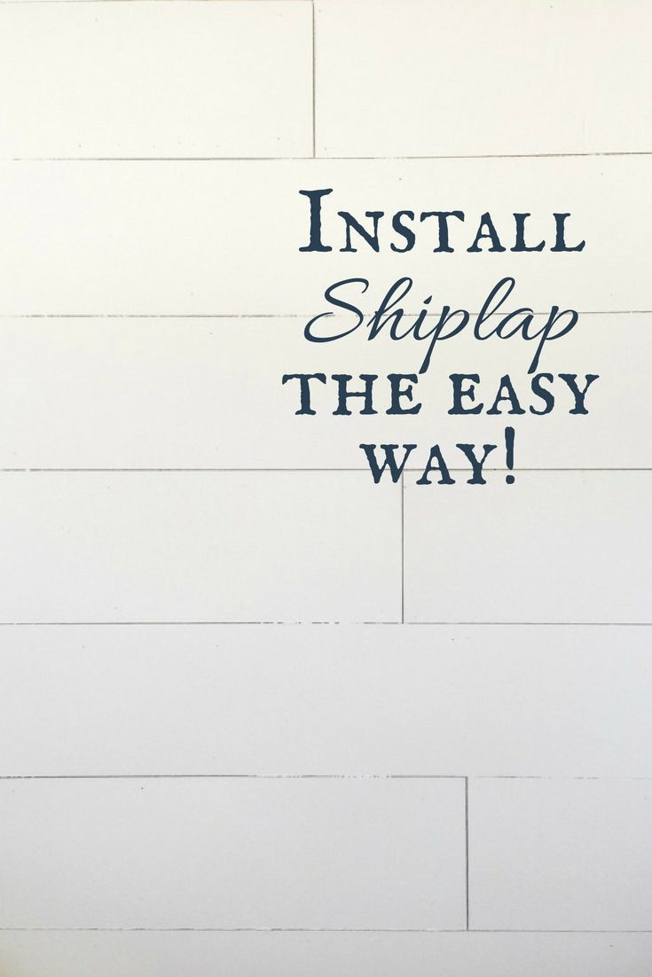 Installing shiplap does not have to be a hard DIY Project. I've got some helpful tips and have debunked a few steps to make installing shiplap easy!