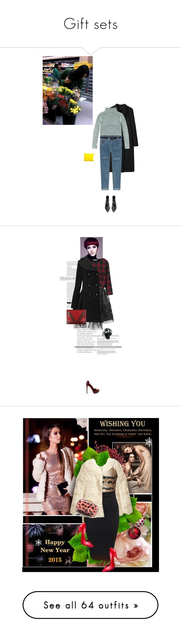 """""""Gift sets"""" by lacas ❤ liked on Polyvore featuring Margaret Howell, Karen Millen, belle by Sigerson Morrison, Alice + Olivia, Chicnova Fashion, Sergio Rossi, Kenzo, Alexander McQueen, redandblack and redblack"""