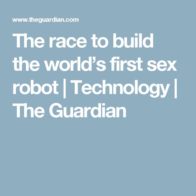 The race to build the world's first sex robot | Technology | The Guardian