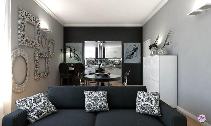 Zona giorno appartamento Firenze, Firenze, Studio7sei arredatori d'interni
