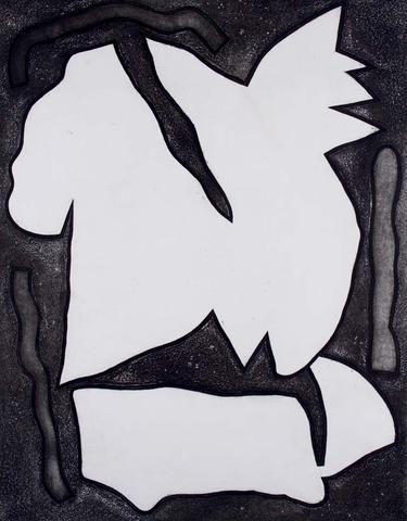 Alun Leach-Jones 'Voyager (Grey)' - screenprint on paper