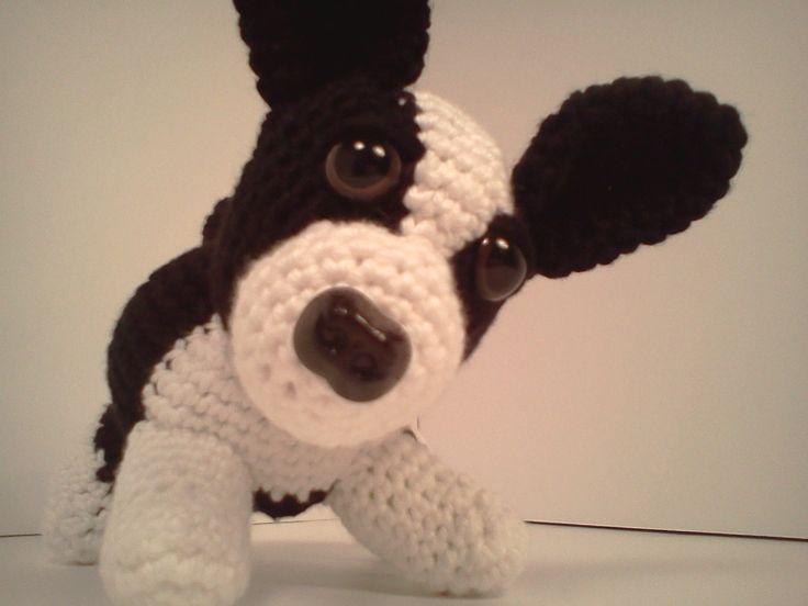 Fox Terrier Amigurumi Patron : Dibujo Pintura Crochet: Zoe bebe Boston Terrier AmiPal ...