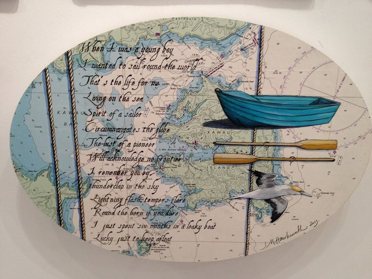 Leaky Boat $769 by Justine Hawksworth. Available at Mana NZ Created Art & Design in Parnell