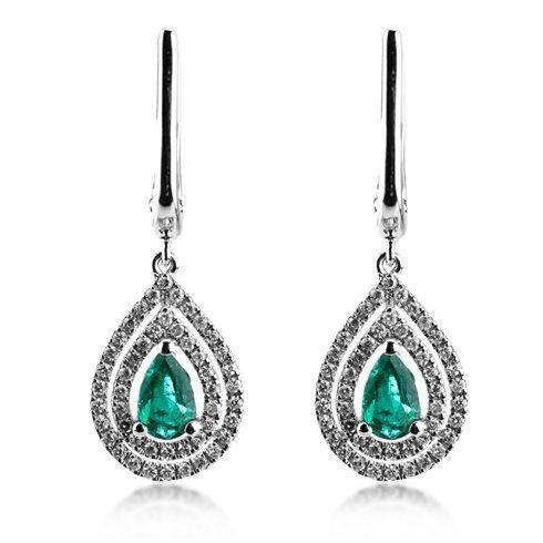 Cercei cu smaralde si diamante C402 C191 #bijuterii #coriolan #cercei #earings