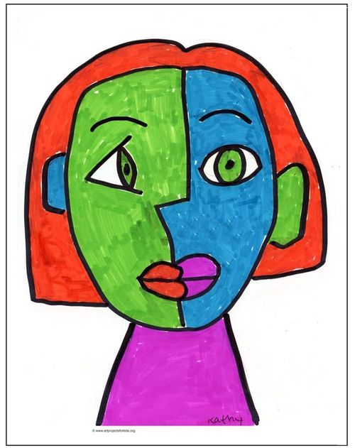 Easy Picasso Face Painting Kids