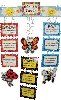 Bug mobile - J would love to make something like this at home.  Could find clipart online and design our own.  Really love this idea!
