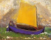 The Mysterious Boat  by Odilon Redon