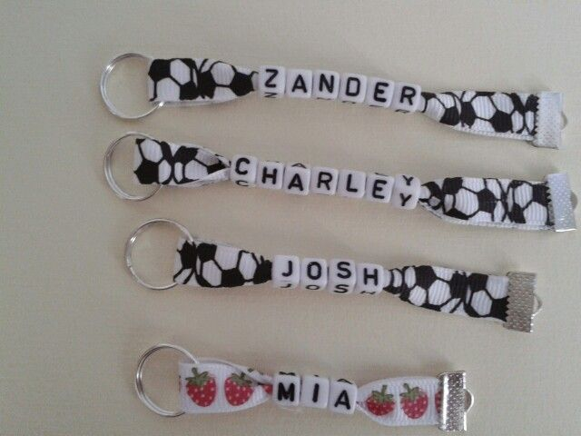 Coat/bag tags.  Great for school!  £2.50 each plus p & p available to buy from www.facebok.com/yellowdaisydesigns