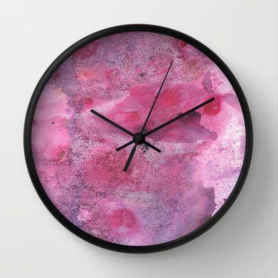 Pink Dream Wall Clock by Alina Sevchenko - $30.00