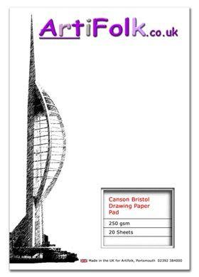 Artifolk Bristol Board Pad 250gsm 20 Sheets